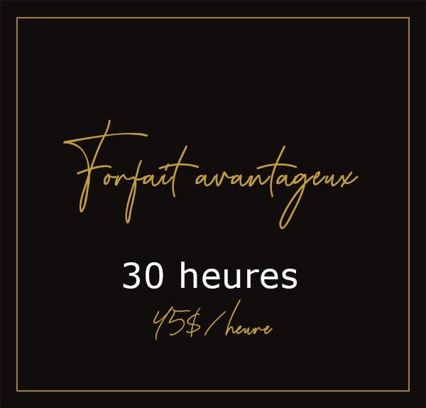Forfait avantageux - 30H00