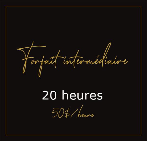 Forfait intermédiaire - 20H00
