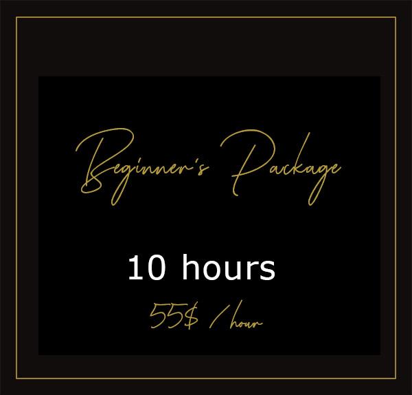 Beginner's package - 10H00